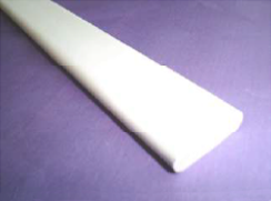 Solid White Plastic Bar (27x7mm)