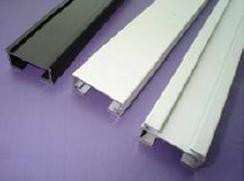 PB02 Pleated Blind Rail Top, 25mm