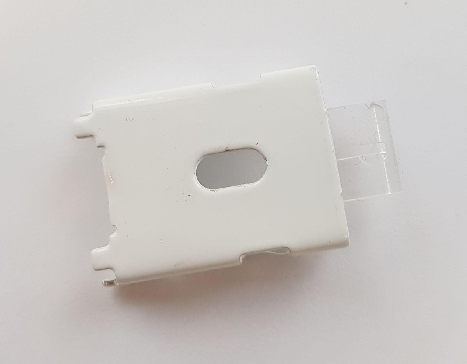 Spring Clip Bracket, White